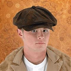 Steampunk Driver Brown Suede Hat