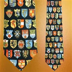 Museum Artifacts Coat of Arms Silk Tie