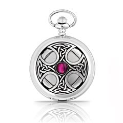 Pewter Celtic Cross Pocket Watch
