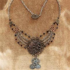 Chains & Gears Steampunk Necklace