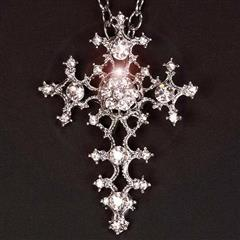 Crystal Gothic Cross Pendant