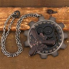 Large Gear / Propeller Steampunk  Pendant
