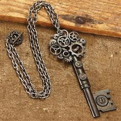 Large Key Steampunk Necklace