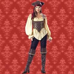 Rustic Pirate Lady Complete Costume