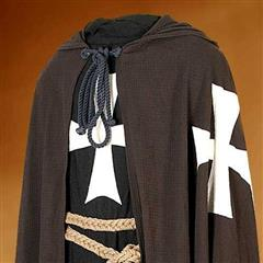 Hospitaller Hooded Tunic w/ Mail Strips