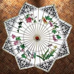Songbird Painted Rice Paper Parasol