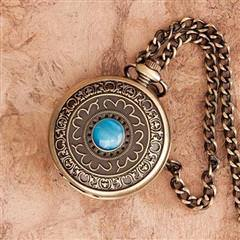Turquoise Pocket Watch