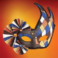 Harlequin Fan Mask