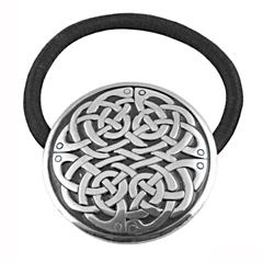 Pewter Never Ending Celtic Knot Hair Band