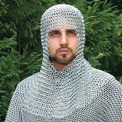 Mail Armor Coif, Riveted Steel
