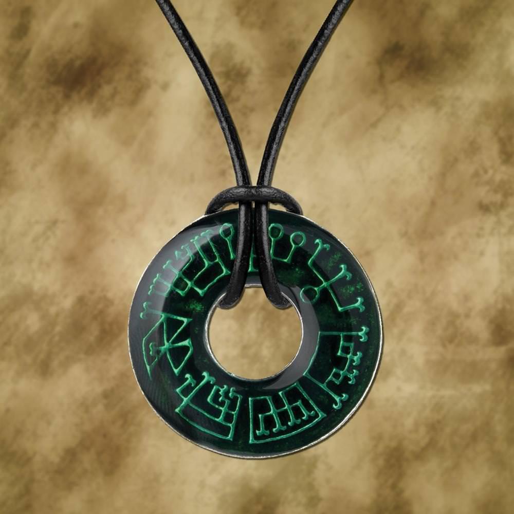 rune neck pewter pendant
