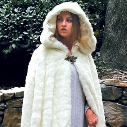Snow Queen Cape Renaissance Costume Museum Replicas