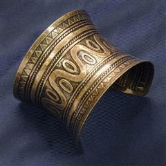 Antique Gold Metal Cuff