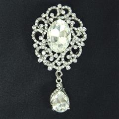 Clear Stone Brooch