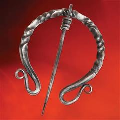 Dark Ages Twisted Iron Cloak Pin