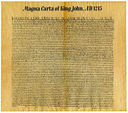 On June 15th, 1215, the Magna Carta was signed