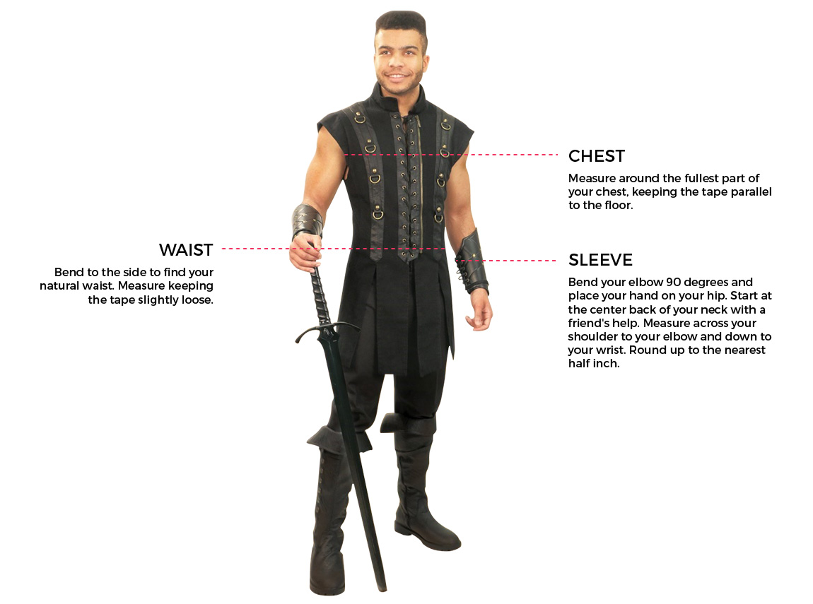 How to measure size for men's vests and doublets