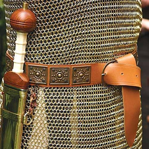 Roman Leather Belt W Embossed Plates Museumreplicas Com