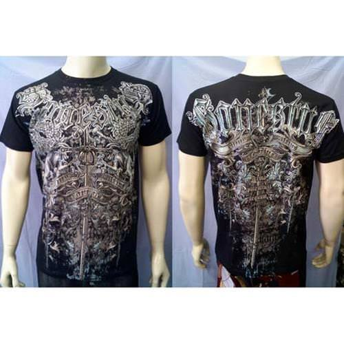 Griffin Sword Rhinestone T Shirt