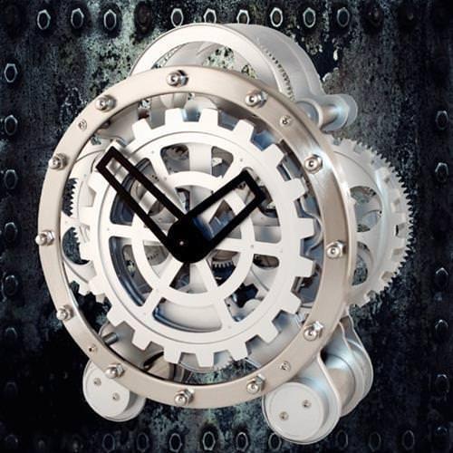 Steampunk gear mantle clock - Steampunk mantle clock ...